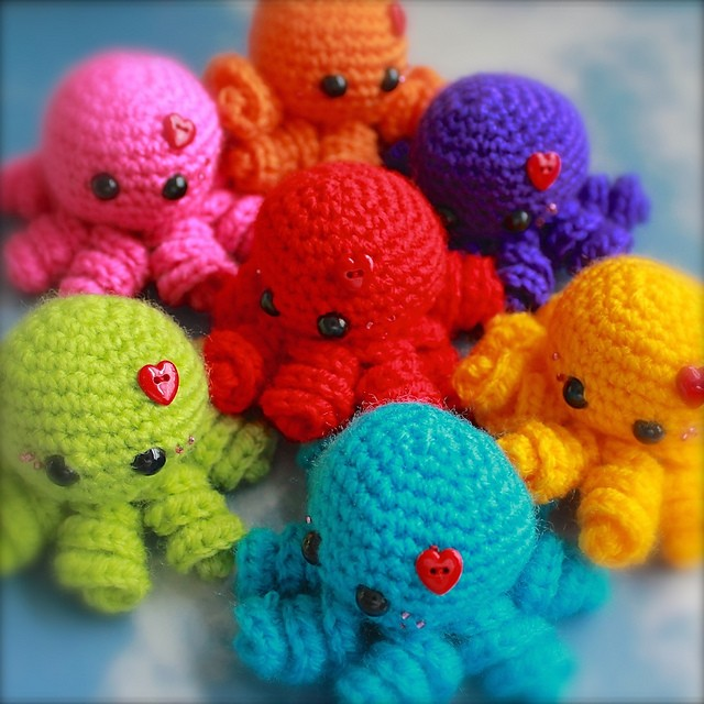 [Free Pattern] These Fun And Easy Mini Amigurumi Octopus Guys Will Get You Hooked In No Time