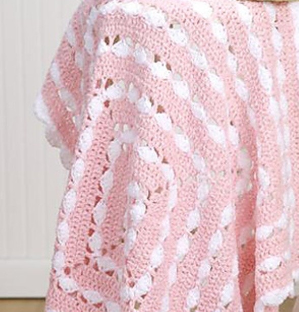 Precious Square Baby Blanket by Mary Jane Protus