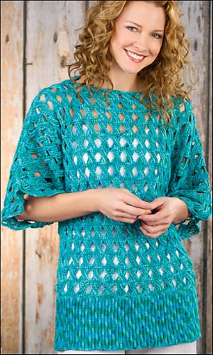 [Free Pattern] This Gorgeous Crochet Top Looks So Interesting And Elegant