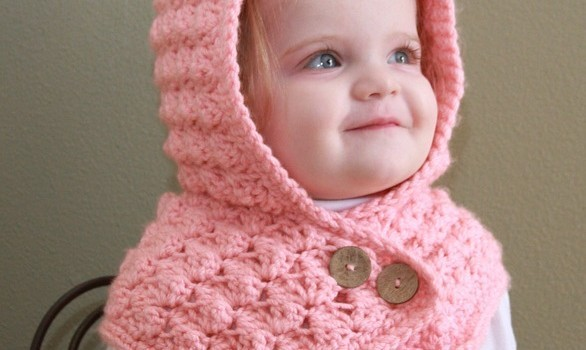 Free Pattern Adorable Textured Toddler Hood To Keep Your Baby Warm