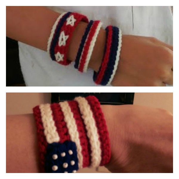 [Video Tutorial] Celebrate Independence Day With This 4th Of July American Flag Bracelet And Cuff
