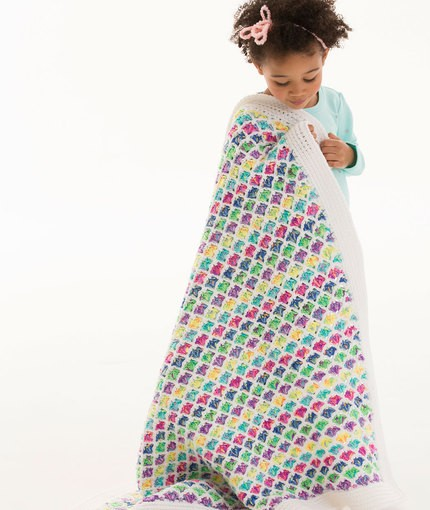 [Free Pattern] Cheerful Rainbow Blanket For Everyday Happiness