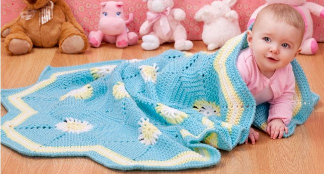 [Free Pattern] Easy And Beautiful Crochet Baby Blanket With A Honeycomb Structure