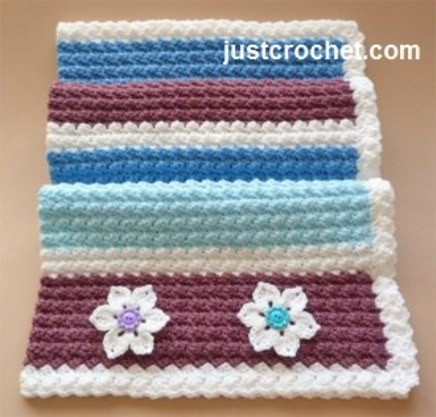 Wonderful Free Crochet Baby Blanket With Flowers