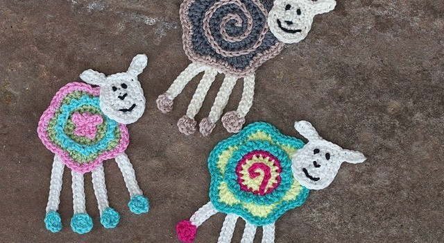 Free Pattern These Colorful Sheep Crochet Appliques Are Beyond Cute
