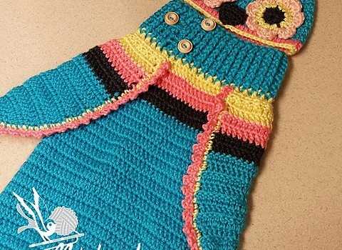 Free Pattern Adorable Baby Owl Cocoon Hat Pattern Can Be Easily