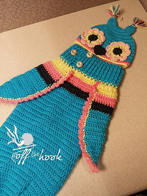 [Free Pattern] Adorable Baby Owl Cocoon & Hat Pattern Can Be Easily Turned Into Just About Any Bug