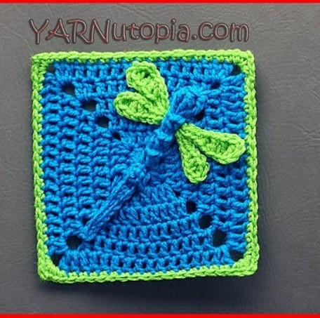 Video Tutorial This 3d Dazzling Dragonfly Granny Square