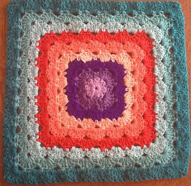 Four 12 Shell Stitch Granny Square Variations by Priscilla Hewitt