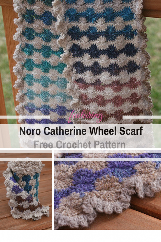 [Free Pattern] Brilliant Noro Catherine Wheel Scarf You Can't Resist