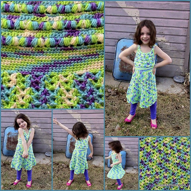 [Free Pattern] Fun Puff Stitch Halter Dress Any Little Girls Wants To Wear This Summer