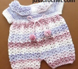 [Free Pattern] Impossibly Cute Crochet Baby Jumpsuit