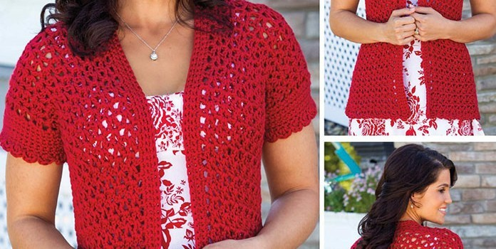 Knitting Patterns Summer Jackets : [Free Pattern] Beautiful Vibrant Summer Jacket - Knit And Crochet Daily