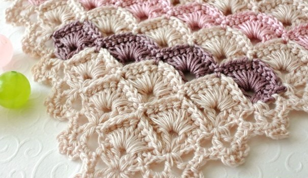 Free Pattern Learn A New Crochet Stitch Triangle Shawl