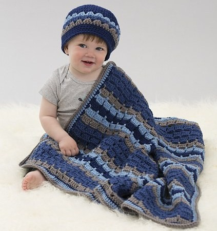 [Video Tutorial] Making Your First Blanket & Hat Set Is Easy- If You Follow This Pattern
