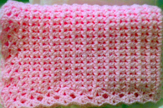 Learn A New Crochet Stitch: Aunt Aggie's Mesh Cluster Stitch (Baby Blanket Free Pattern Included)