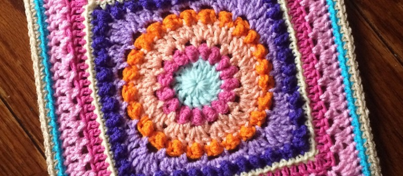 Free Pattern Fabulously Looking Textured Circles Square Knit And