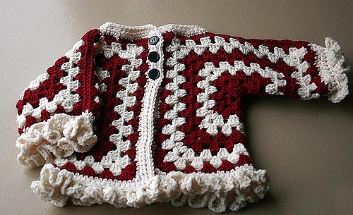 7b848fe3e Free Pattern  Easiest Way Ever To Make A Cute Hexagon Baby Jacket ...
