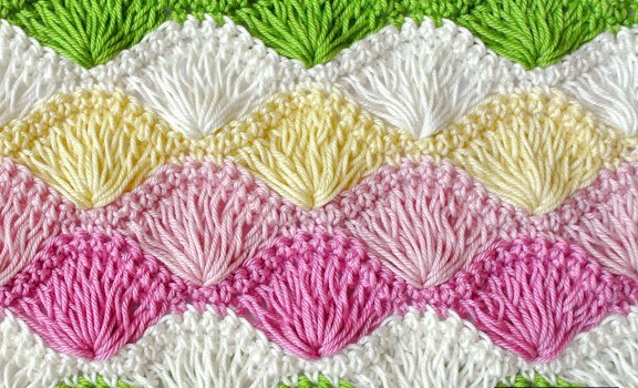 Free Pattern Learn A New Crochet Stitch Long Loop Shell Stitch