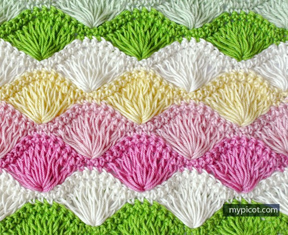 [Free Pattern] Learn A New Crochet Stitch: Long Loop Shell Stitch