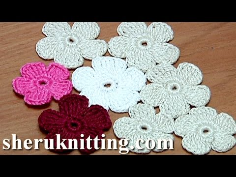 [Video Tutorial] How To Make A Flat Crochet Flower With 5 ...