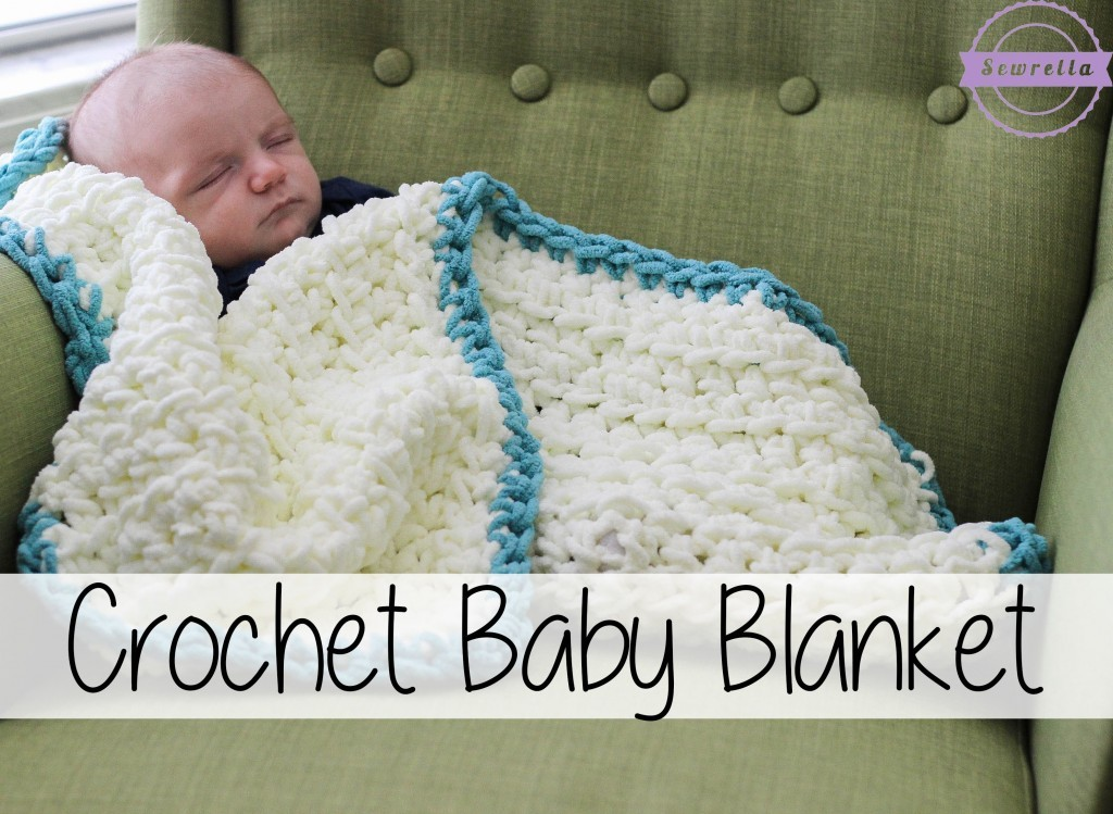 [Video Tutorial] This Super Simple Crochet Baby Blanket Is An Easy Beginner Crochet Project