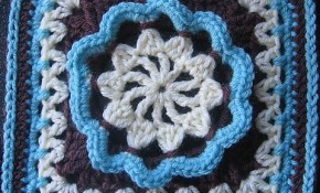 """[Free Pattern] Spectacular 9"""" and 12"""" Afghan Block"""