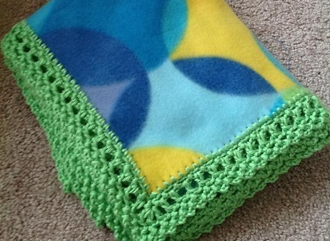 Free Pattern This Unisex Crochet Edge Can Make Any Fleece Blanket