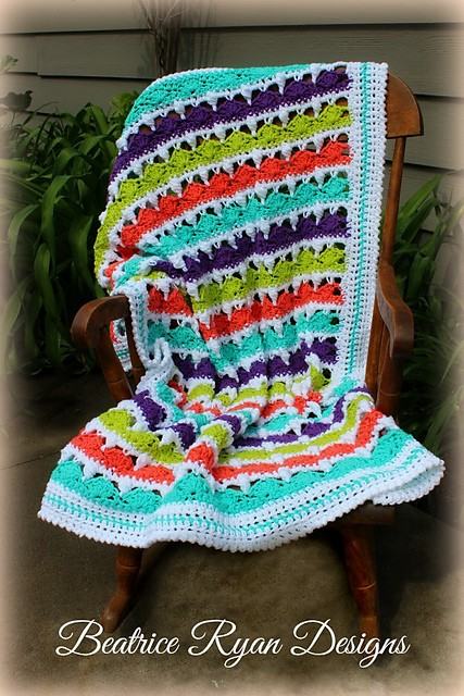 [Free Pattern] Sweet And Colorful Blanket For Mild Summer Days