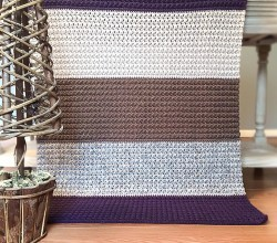 [Free Pattern] Simple And Beautiful Comfy Squares Textured Blanket