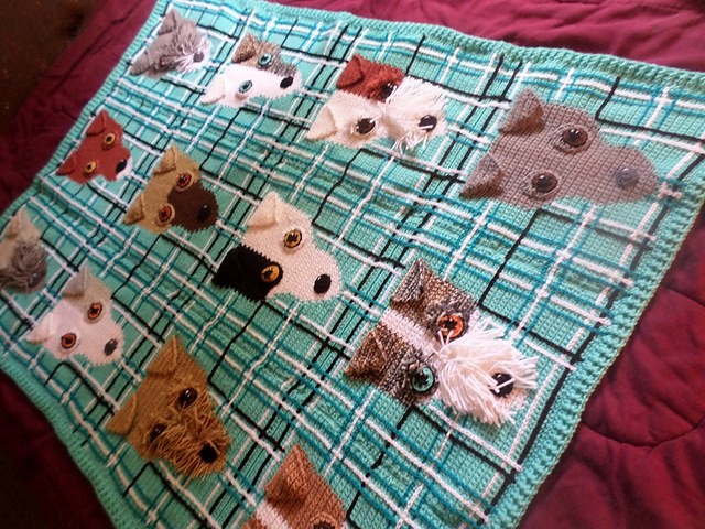 [Free Pattern] Ah-dorable Afghan Pattern For People Who Love Fox Terriers