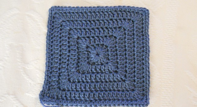 Free Pattern Quick And Easy Simple Solid Granny Square Knit And
