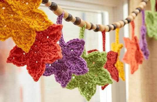 Free Pattern Crocheted Leaves In Gorgeous Fall Shades Make The