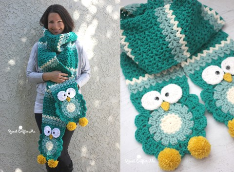[Free Pattern] Absolutely Adorable Crochet Owl Super Scarf You Need In Your Life