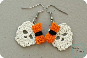 [Free Pattern] Simple And Stylish Skulls Earrings You Can Make In No Time