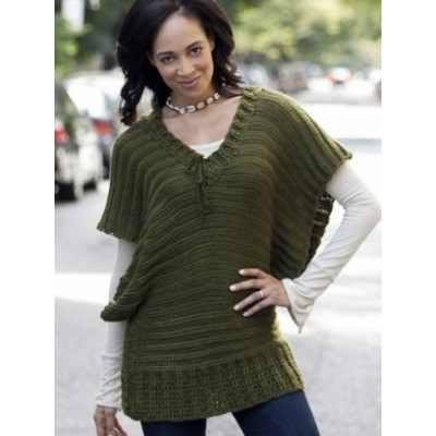 [Free Pattern] This Fabulous V-Neck Topper Will Keep You Warm When It's Cold Outside