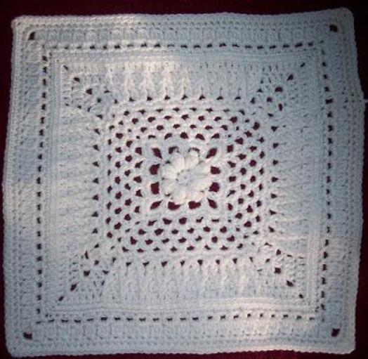 [Free Pattern] Create Your Own Winter Wonderland Blanket With This Beautiful Winter Rose Square