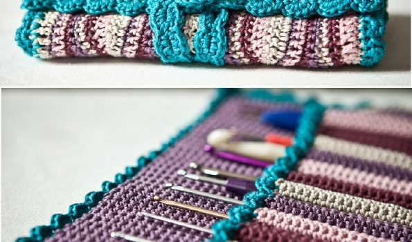 Free Pattern Gorgeous Crochet Hook Case Youll Fall In Love With