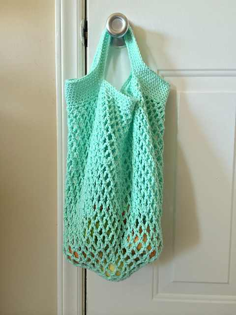 Free Pattern This Perfect For Grocery Shopping Mesh Tote