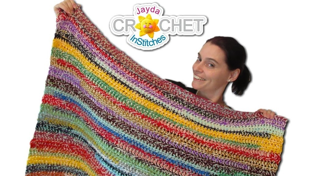 [Video Tutorial]  Bust Through Your Stash Of Yarn With This Easy Stash Buster Crochet Blanket Pattern (2 Style Scrapghan)