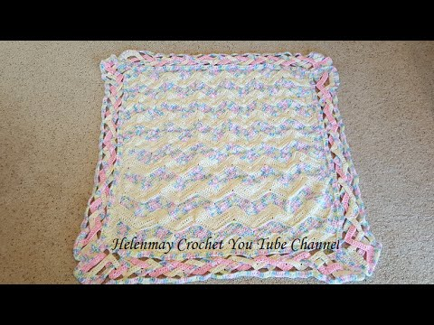 [Video Tutorial] How To Make A Gorgeous Crochet Heirloom Rainbow Chevron Baby Blanket