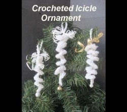 [Video Tutorial] Learn How To Make These Adorable Crocheted Icicle Ornaments For Your Christmas Tree