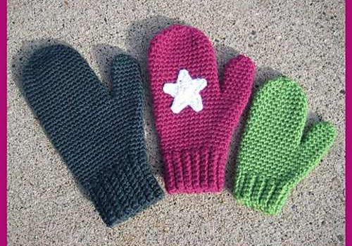 Free Pattern Quick And Easy Crochet Mittens For Women And Kids
