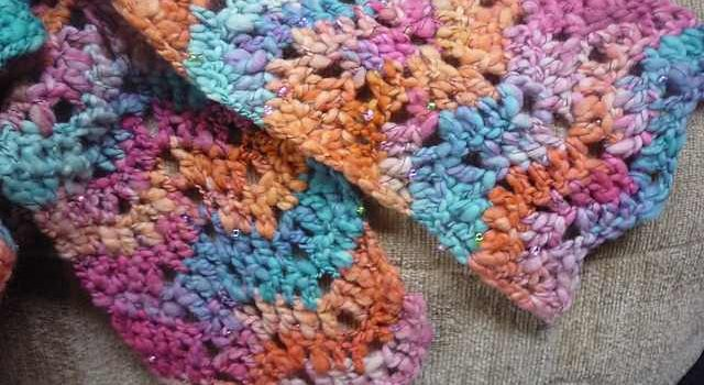 Free Pattern Super Easy And Fun One Skein Chevron Scarf Knit And