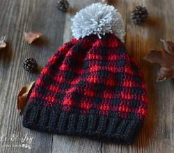 [Free Pattern] Make This Fabulous Plaid Hat With This Easy Technique