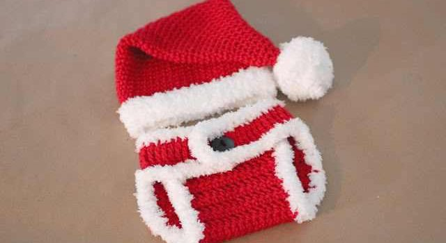 Free Pattern  Isn t This Crochet Santa Hat And Diaper Cover The Cutest New  Born Set Ever  8d24abcb506