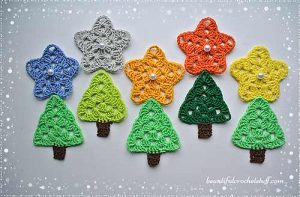 [Free Pattern] Add Sparkles To Your Holiday With These Adorable Colorful Granny Stars