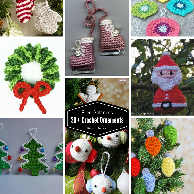 30 cute free crochet christmas ornaments patterns to decorate your tree