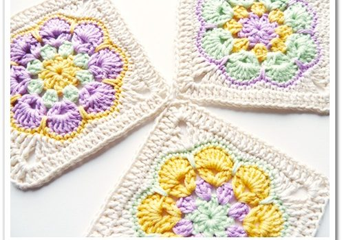 How To Turn The Crochet African Flower Into A Square Knit And