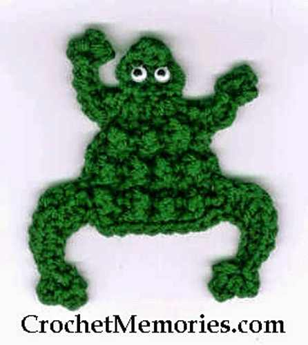 This Crochet Frog Is A Great Magnet For Your Fridge